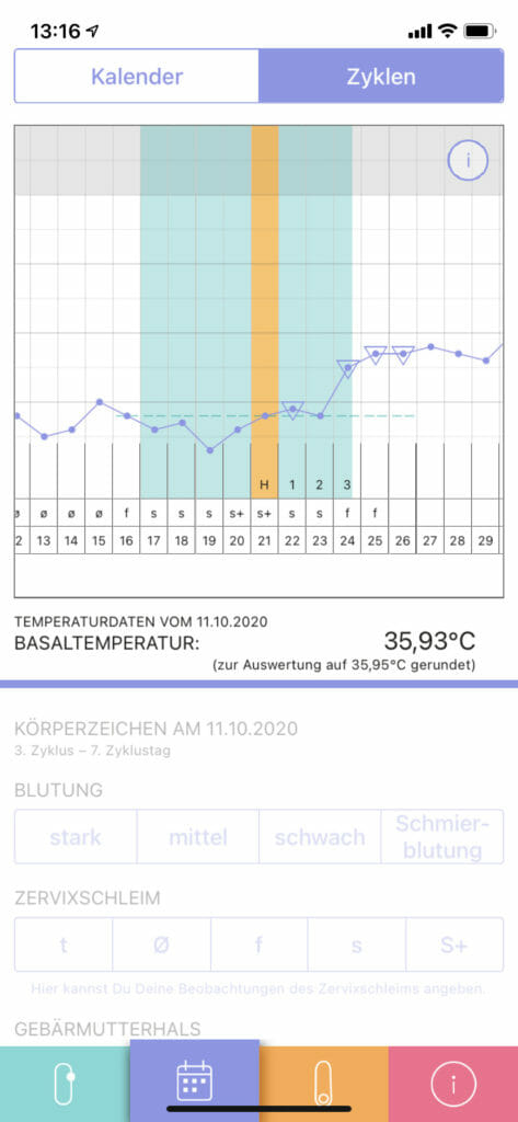 Auswertung trackle App