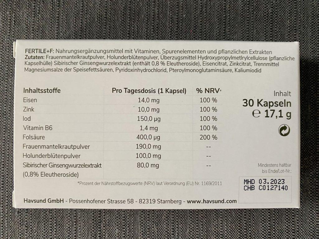 Havsund Fertile F - die Inhaltsstoffe