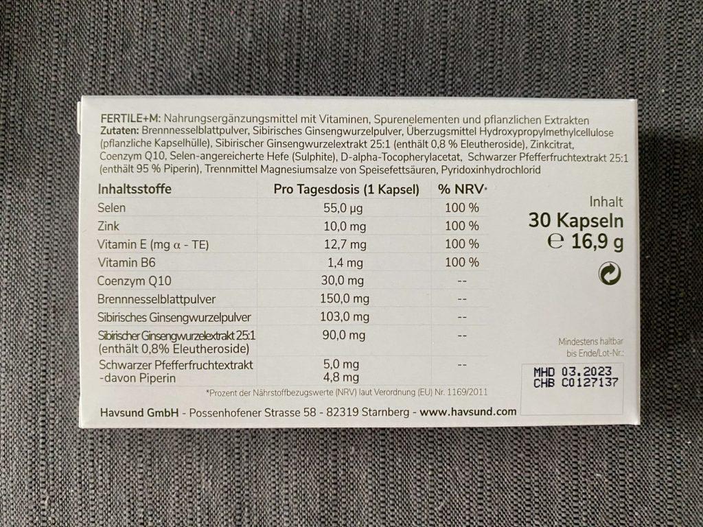 Havsund Fertile M - Die Inhaltsstoffe